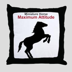 Miniature Horse Maximum Attitude Throw Pillow