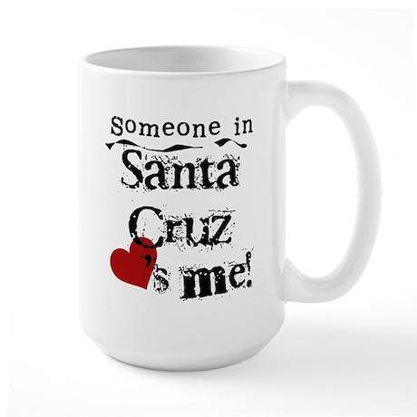 Santa Cruz Loves Me Large Mug