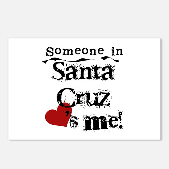 Santa Cruz Loves Me Postcards (Package of 8)