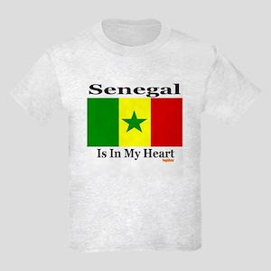 Senegal - Heart Kids Light T-Shirt