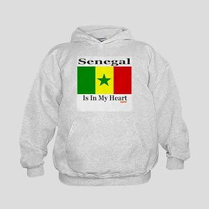 Senegal - Heart Kids Hoodie