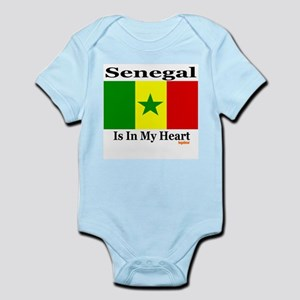 Senegal - Heart Infant Bodysuit