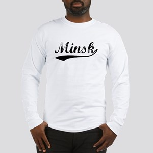 Vintage Minsk (Black) Long Sleeve T-Shirt