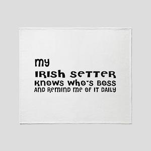 My Irish Setter Dog Designs Throw Blanket