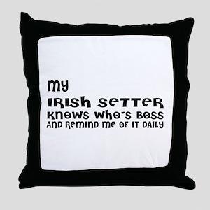 My Irish Setter Dog Designs Throw Pillow