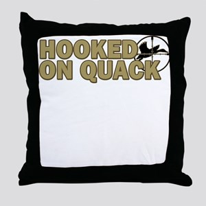 Hooked on Quack Throw Pillow