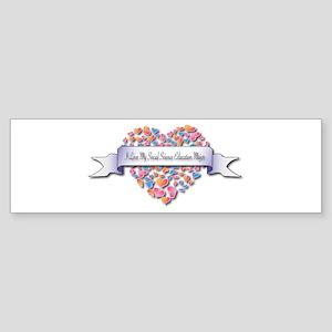 Love My Social Science Education Major Sticker (Bu