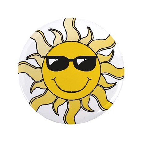 """SUN (22) 3.5"""" Button (100 pack)"""