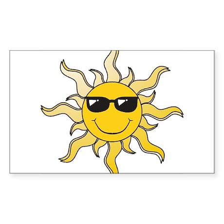 SUN (22) Rectangle Sticker