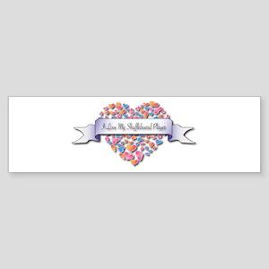 Love My Shuffleboard Player Bumper Sticker