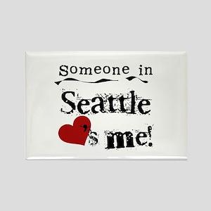 Seattle Loves Me Rectangle Magnet