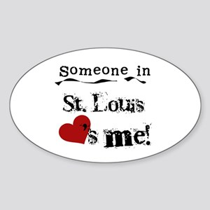 St. Louis Loves Me Oval Sticker