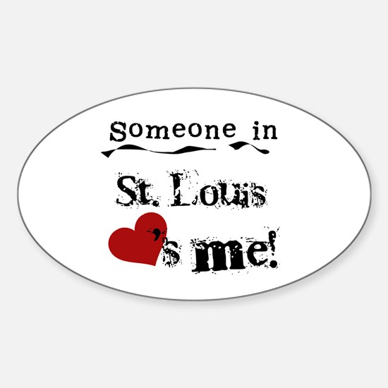 St. Louis Loves Me Oval Decal
