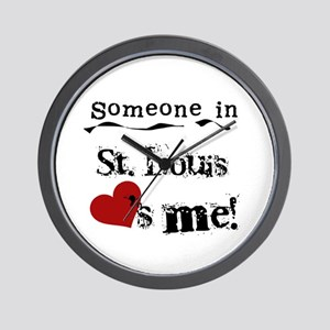 St. Louis Loves Me Wall Clock