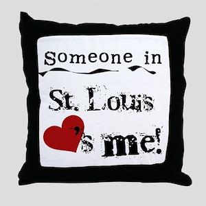 St. Louis Loves Me Throw Pillow