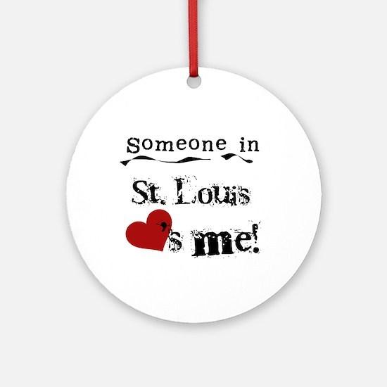 St. Louis Loves Me Ornament (Round)