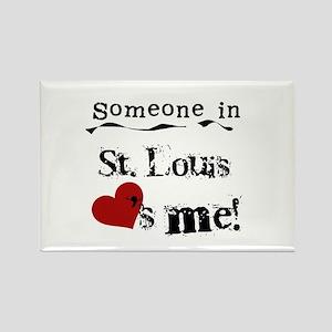St. Louis Loves Me Rectangle Magnet
