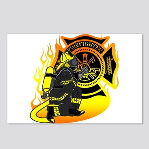 Firefighter With Maltese Cross Postcards (Package