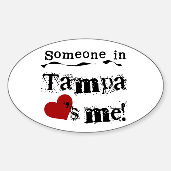 Tampa Loves Me Oval Decal