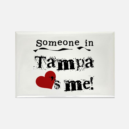 Tampa Loves Me Rectangle Magnet