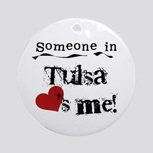 Tulsa Loves Me Ornament (Round)