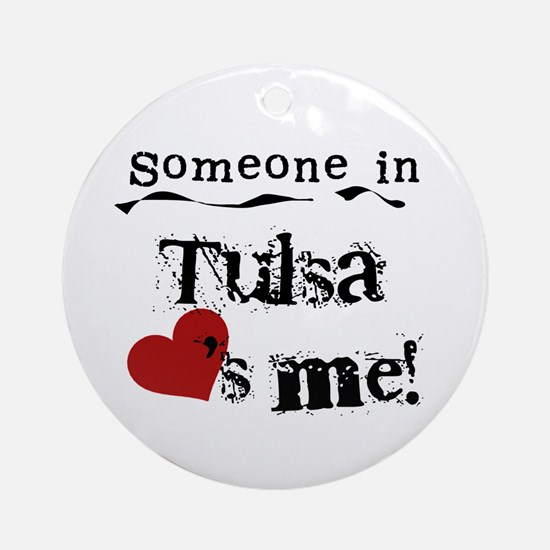 Tulsa Loves Me Ornament (Round)