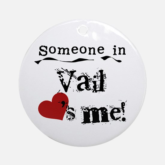 Vail Loves Me Ornament (Round)