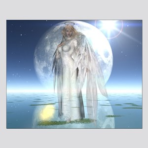 Moon Angel Small Poster