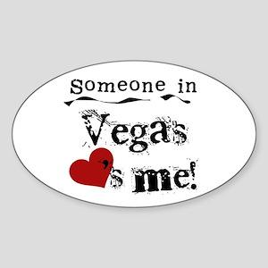 Vegas Loves Me Oval Sticker