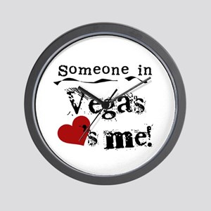 Vegas Loves Me Wall Clock