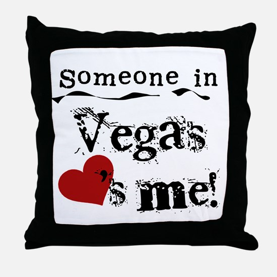 Vegas Loves Me Throw Pillow