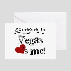 Vegas Loves Me Greeting Card