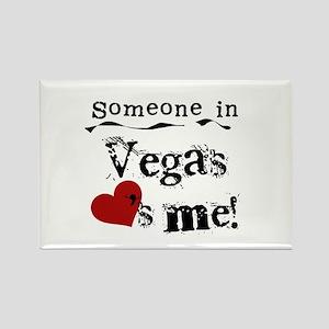 Vegas Loves Me Rectangle Magnet