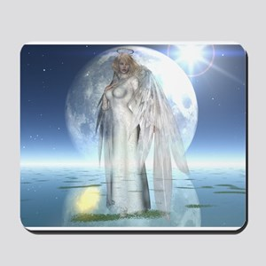 Moon Angel Mousepad