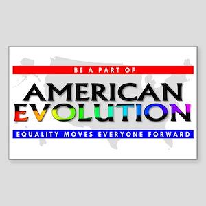 American Evolution Rectangle Sticker