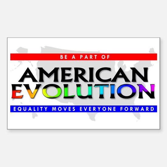 American Evolution Rectangle Decal