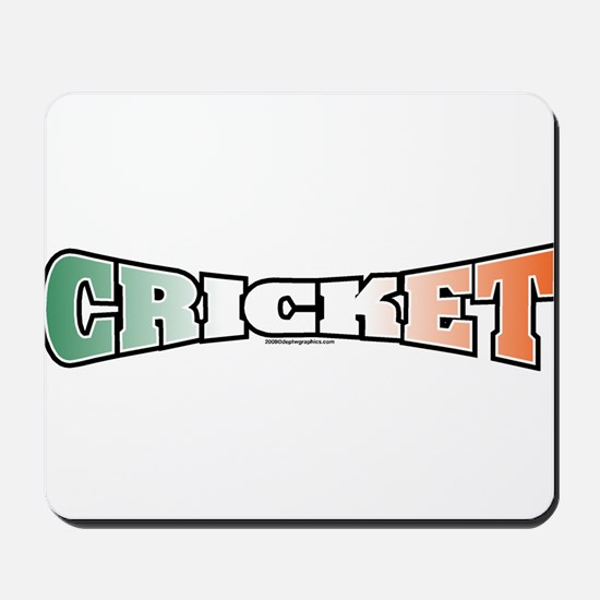 Cricket with Flag Mousepad