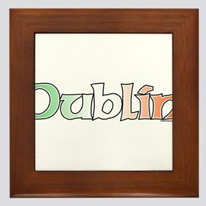 Dublin with Flag Framed Tile