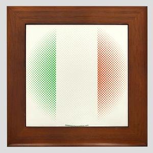 Flag with Dot Pattern Framed Tile