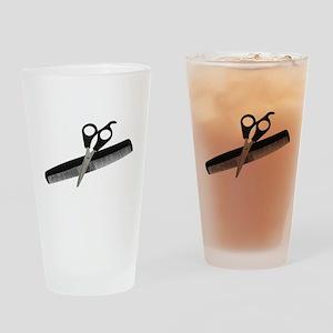 ScissorsComb052010 Drinking Glass