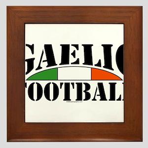 Gaelic Football Framed Tile