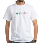 Earth Water Air and Fire Elements White T-Shirt
