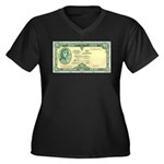 Irish Money Women's Plus Size V-Neck Dark T-Shirt