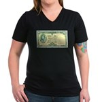 Irish Money Women's V-Neck Dark T-Shirt