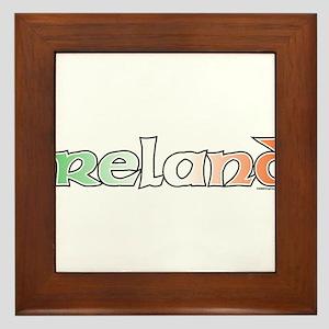 Ireland with Flag Framed Tile