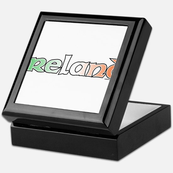 Ireland with Flag Keepsake Box