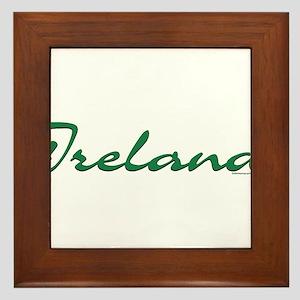 Ireland Script Framed Tile
