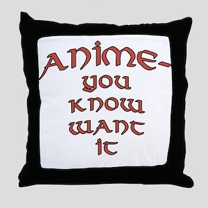 Anime Fan Joke Throw Pillow