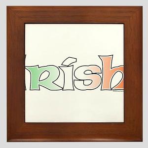 Irish with Flag Framed Tile