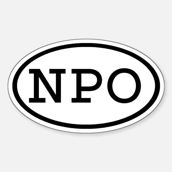NPO Oval Oval Decal